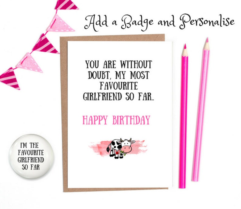 Lesbian Birthday Card Girlfriend Funny