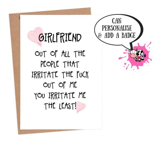 Lesbian Birthday Card Girlfriend Funny