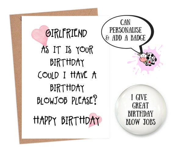Pleasing Birthday Card Girlfriend Funny Card Girlfriend Funny Etsy Funny Birthday Cards Online Fluifree Goldxyz
