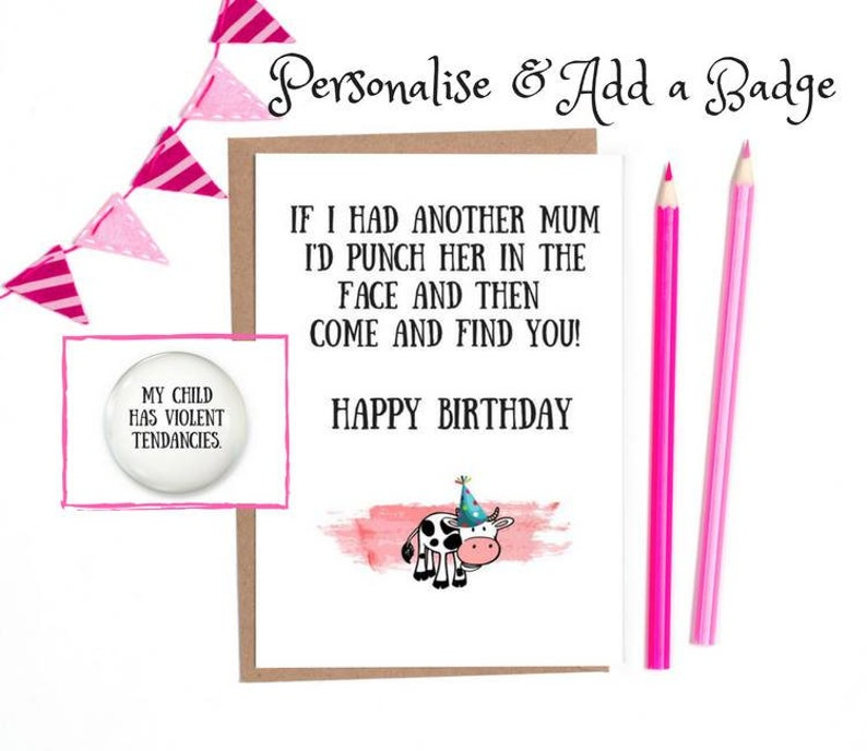 Funny Birthday Card Mum Mom