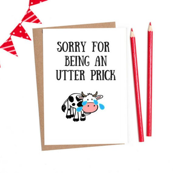 Funny sorry card sorry card apology card funny greeting etsy image 0 m4hsunfo