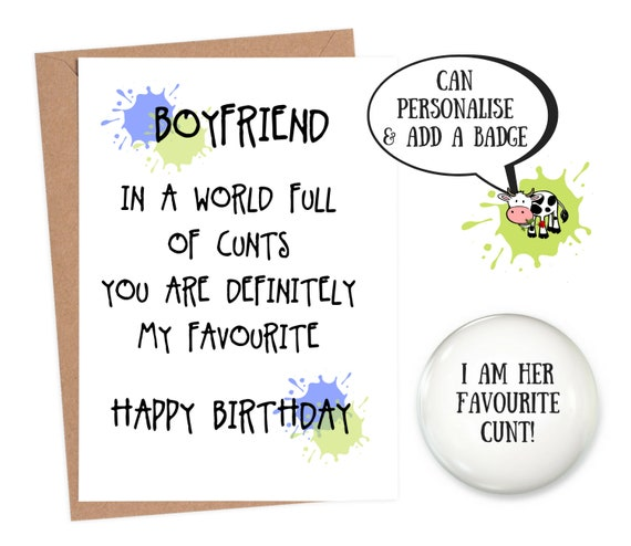 Birthday Card Funny Boyfriend