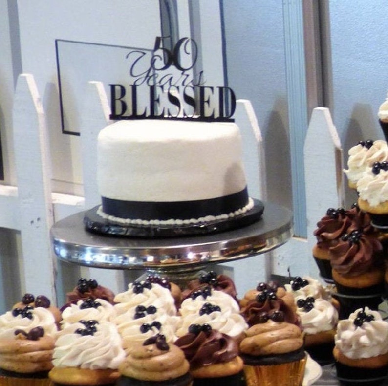 Wedding Anniversary Cake Decoration. Cake Topper 50th Wedding Anniversary