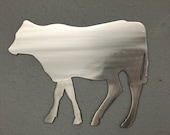 Cow Metal Wall Art Decoration Skilwerx 12x9 Western cowboy