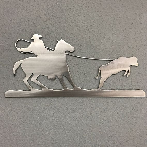 Cowboy 2 Metal Wall Decoration Skilwerx 12 x 9 Western