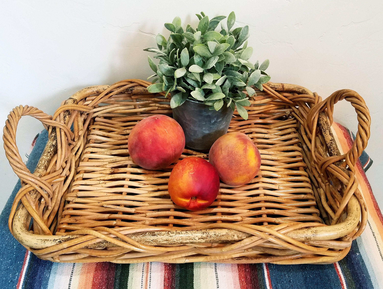 Farmhouse Basket Large Basket Tray Farmhouse Kitchen Decor French Country Basket