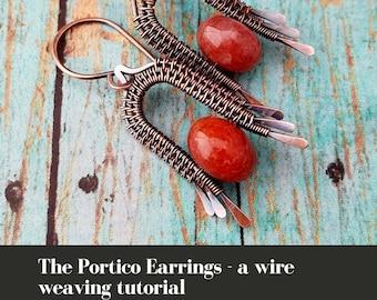 Wire Weaving Tutorial - The Portico Earrings by Wendi of Door 44 Studios