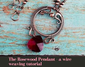 A Wire Weaving Tutorial: The Rosewood Pendant by Wendi of Door 44 Studios