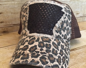 ed1d6b99e59 Leopard Print Arkansas Trucker Hat