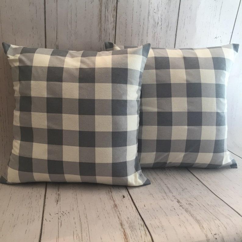 Blank Buffalo Plaid Pillow Cover Buffalo Plaid Pillow