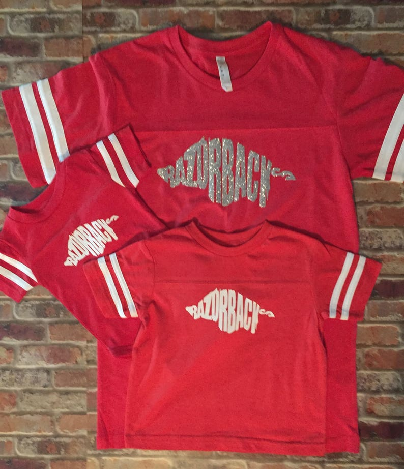 Matching Shirts Razorback Shirt Arkansas Razorbacks Jersey Arkansas Shirt Spirit Wear Bodysuit Infant Razorback Shirt Game Day Shirt