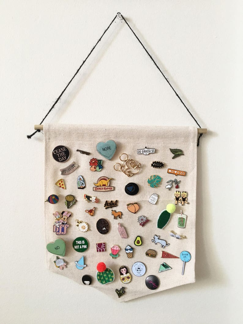 Pin Display Banner for Enamel Pin Collection