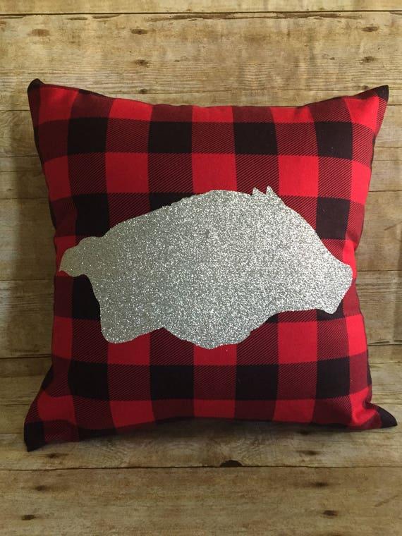 Arkansas Razorback Set of 2 Decorative Throw Pillow
