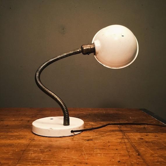 Lampe De Bureau Vintage Col De Cygne Industrielle Annees Etsy