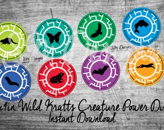photograph regarding Wild Kratts Creature Power Discs Printable named Disc printables Etsy