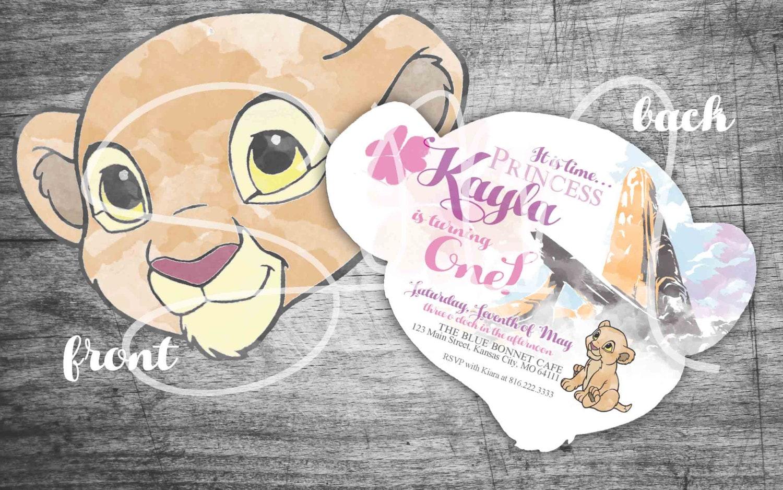 NEW E-Vite Baby Kiara Lion Guard 1st Birthday/Baby Shower   Etsy