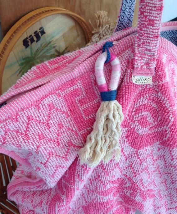 sac de plage serviette sac rose sac main sac etsy. Black Bedroom Furniture Sets. Home Design Ideas