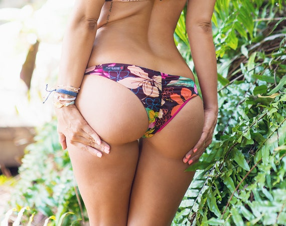 15%OFFSALE *** MissManeater LUSH cheeky scrunch bum hipster boutique bikini pant *** SUPERLOW rise!