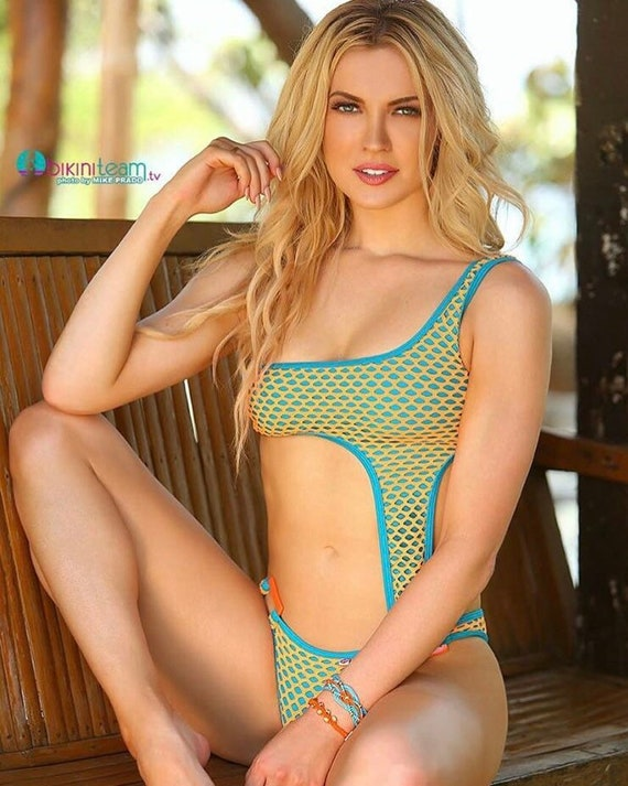 15%OFFSALE ***MissManeater MESH asymmetrical one piece designer swimsuit *** BRAZILIAN cut!