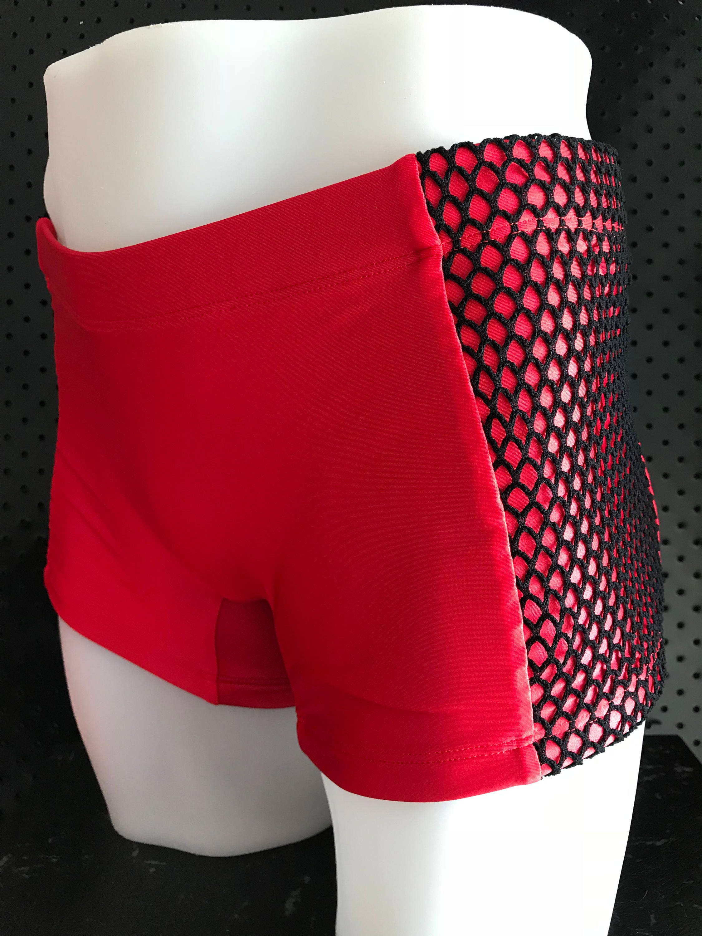5ecf69fc55 INTRODUCING our Mens euro swim truck brand: ROGUEswim ** REDlight/BLACK  fishnet mesh panelled swim short. gallery photo gallery photo ...