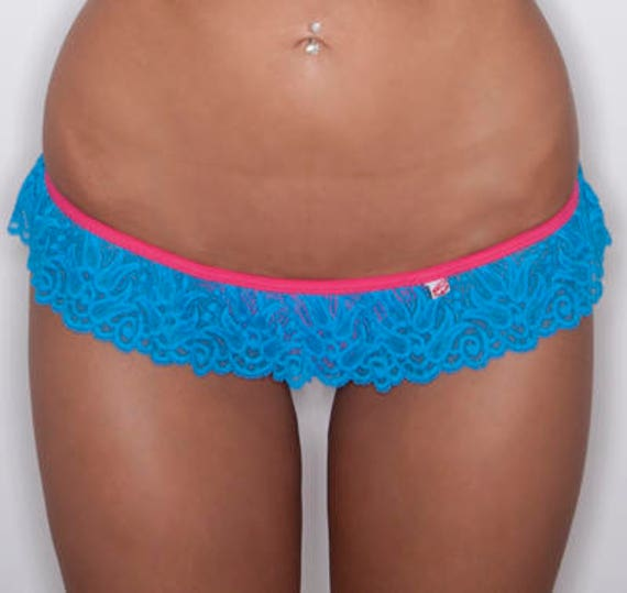 LASTONE!!! 50%OFF *** MissManeater TAINTEDLOVE lace frill skirt T-bar boutique bikini pant *** THONGcut! maneaterSTYLE***