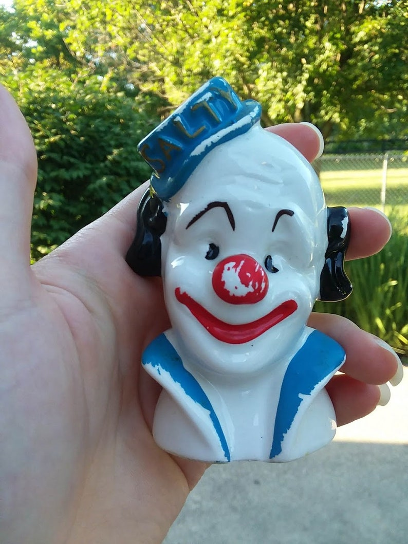 1970s Vintage Enesco Imports Japan Clown Salt and Pepper Shakers Salty /& Peppy the Clowns Collectable Shakers