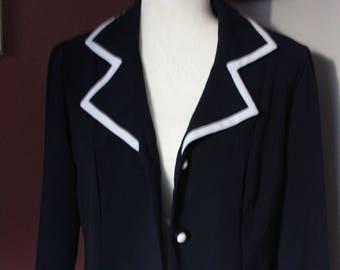 Vintage Perceptions New York Navy Blue Sailor Jacket