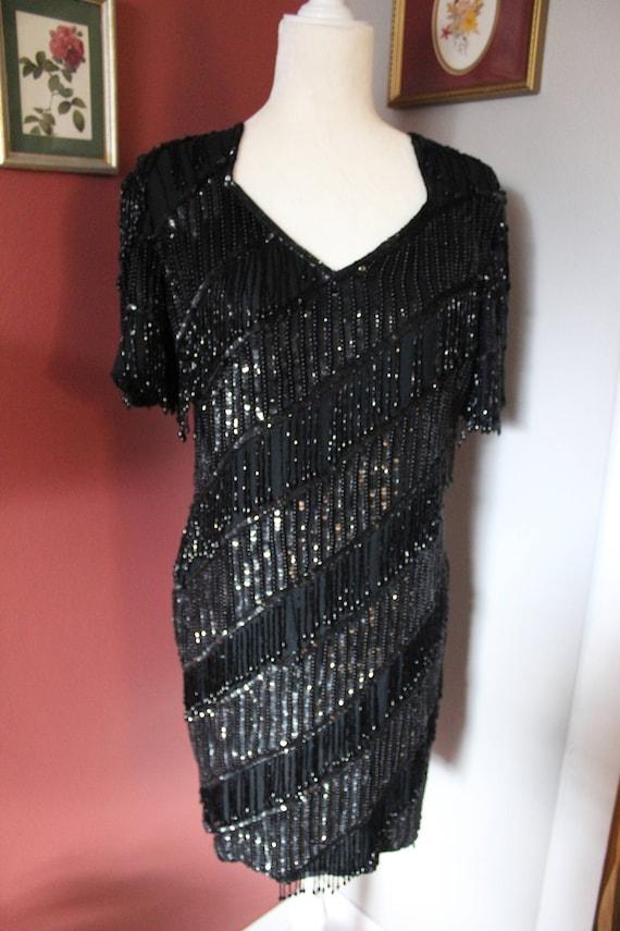Vintage & Unique Ramona Beaded Cocktail Dress