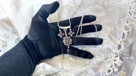 Amethyst Pendant/ Amethyst Necklace/ Amethyst Clu… - image 2