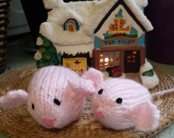 Lovely little hand knitted Sugar Mice