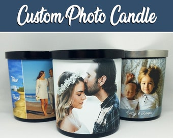 9oz. Personalized Photo Candle︱Custom Soy Candle | Scented Picture Candle | Custom Candle, Gifts for Him, Gifts for Her, Birthday, Christmas