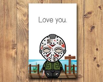 a7a736fd5b47 Jason voorhees card   Etsy
