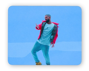 Drake hotline bling mouse pad - mouse mat - desktop mouse mat - funny mouse mat - computer pad