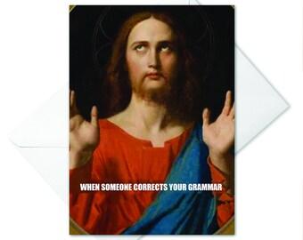 Funny Jesus Card