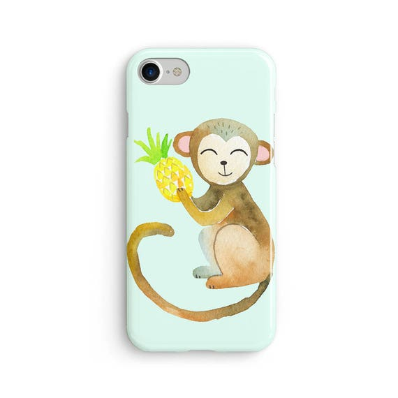 Cheeky monkey watercolor  iPhone X case - iPhone 8 case - Samsung Galaxy S8 case - iPhone 7 case - Tough case 1P027