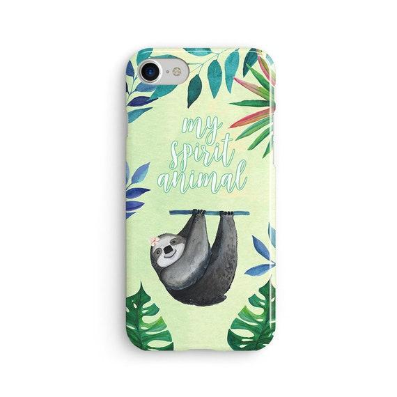 Sloth spirit animal iPhone X case - iPhone 8 case - Samsung Galaxy S8 case - iPhone 7 case - Tough case 1P081