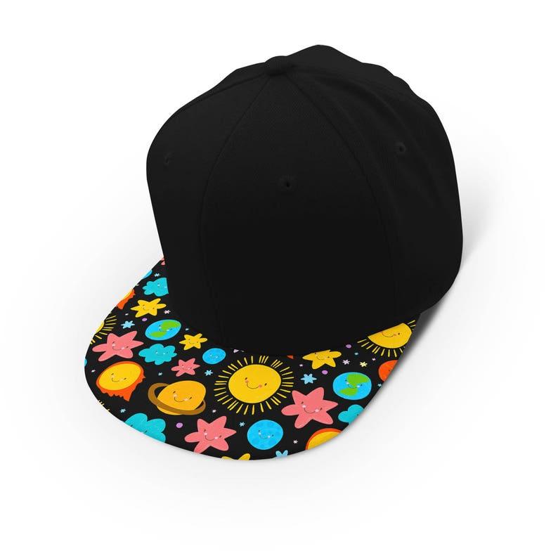 1ee817b47aa Cute kawaii solar system snapback cap hat baseball cap