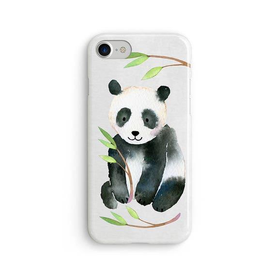 Watercolor panda  iPhone X case - iPhone 8 case - Samsung Galaxy S8 case - iPhone 7 case - Tough case 1P069
