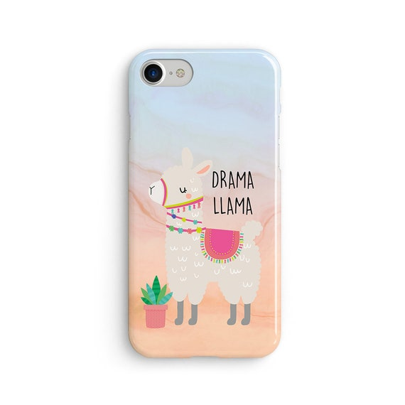 Drama llama iPhone X case - iPhone 8 case - Samsung Galaxy S8 case - iPhone 7 case - Tough case 1P083