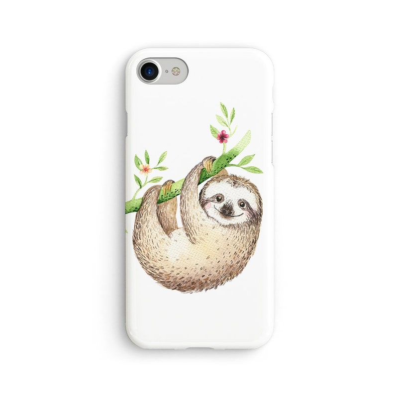 the latest 93539 6f8a1 Cute hanging sloth iPhone X case - iPhone 8 case - Samsung Galaxy S8 case -  iPhone 7 case - Tough case 1P088