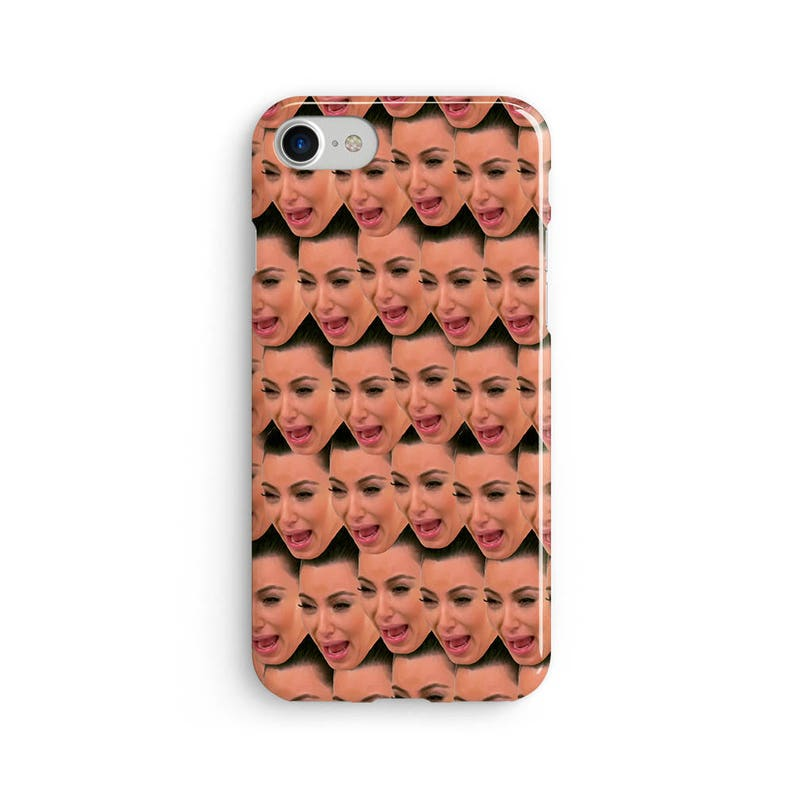 check out 09233 bf668 Kim crying face iPhone X case - iPhone 8 case - Samsung Galaxy S8 case -  iPhone 7 case - Tough case 1P040