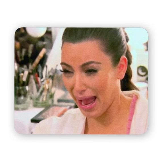 Kim Kardashian ugly crying face mouse pad - mouse mat - desktop mouse mat - funny mouse mat - computer pad 3P002