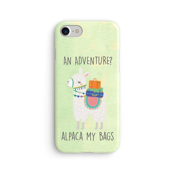 Alpaca adventure iPhone X case - iPhone 8 case - Samsung Galaxy S8 case - iPhone 7 case - Tough case 1P082