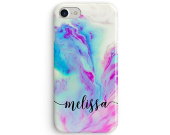 Custom name mermaid marble  iPhone X case - iPhone 8 case - Samsung Galaxy S8 case - iPhone 7 case - Tough case 1P076