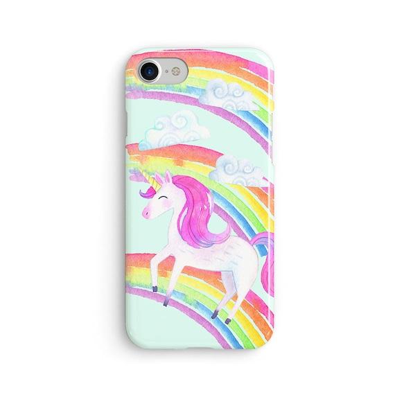 Unicorn watercolor rainbow  iPhone X case - iPhone 8 case - Samsung Galaxy S8 case - iPhone 7 case - Tough case 1P053