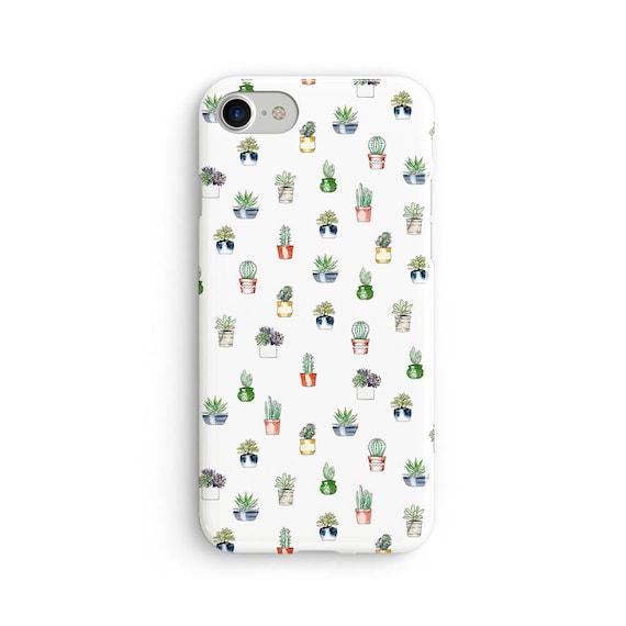 Cute cactus pattern  iPhone X case - iPhone 8 case - Samsung Galaxy S8 case - iPhone 7 case - Tough case 1P029