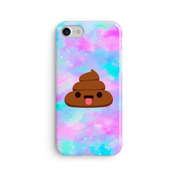 Poo emoji space rainbow  iPhone X case - iPhone 8 case - Samsung Galaxy S8 case - iPhone 7 case - Tough case 1P009