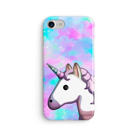 Unicorn emoji space rainbow  iPhone X case - iPhone 8 case - Samsung Galaxy S8 case - iPhone 7 case - Tough case 1P043