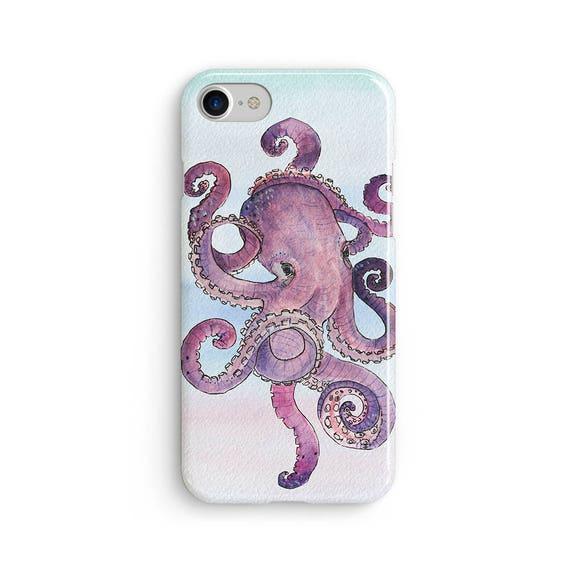 Octopus watercolor  iPhone X case - iPhone 8 case - Samsung Galaxy S8 case - iPhone 7 case - Tough case 1P062