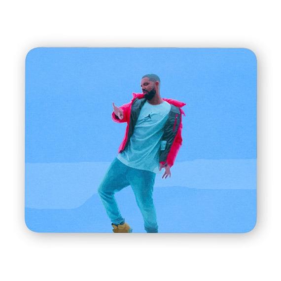 Drake hotline bling mouse pad - mouse mat - desktop mouse mat - funny mouse mat - computer pad 3P003